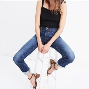 Madewell The Slim Boyjean with Raw Hem in Creston